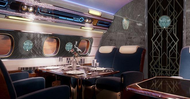 bàn ăn máy bay the manhatta