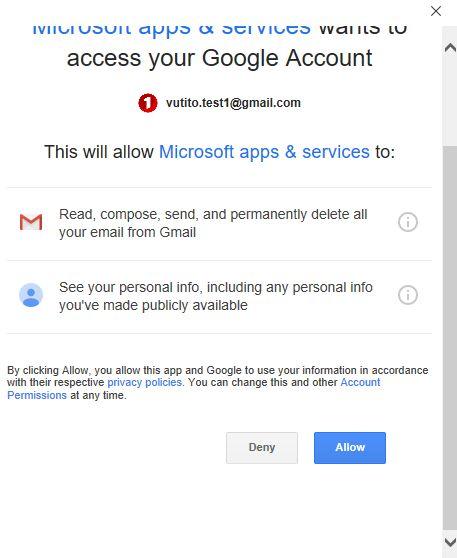 xác nhận từ google