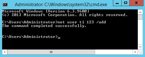 Tạo Local User trong Win server bằng dòng lệnh