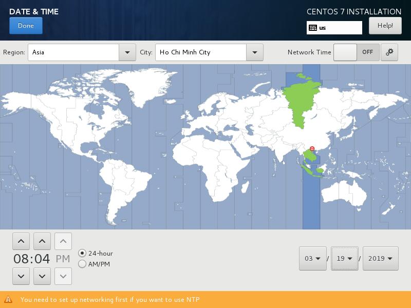 linux cho người mới - chọn khu vực