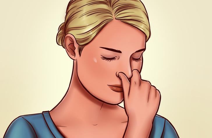 bí quyết tập bơi - Bóp mũi để tập nín thở