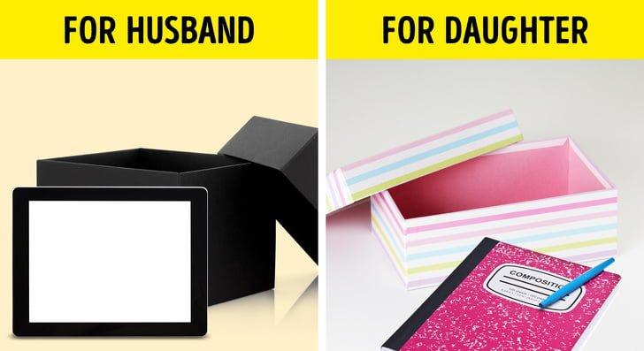 Sử dụng hộp để đựng đồ dùng riêng cá nhân