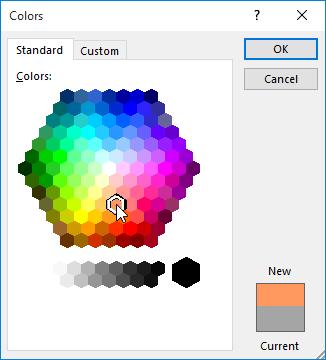 bảng màu trong Định dạng văn bản trong Word 2016