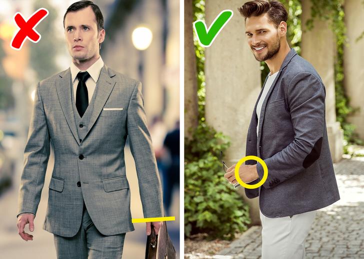 Mặc chiều dài tay áo hợp lý