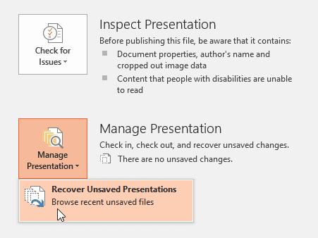 Lưu bản thuyết trình với PowerPoint 2016 - chức năng auto recover