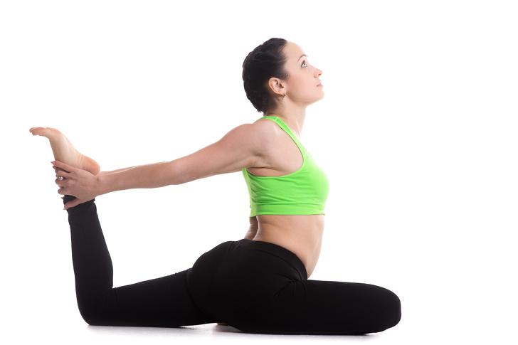 tư thế yoga chân vịt