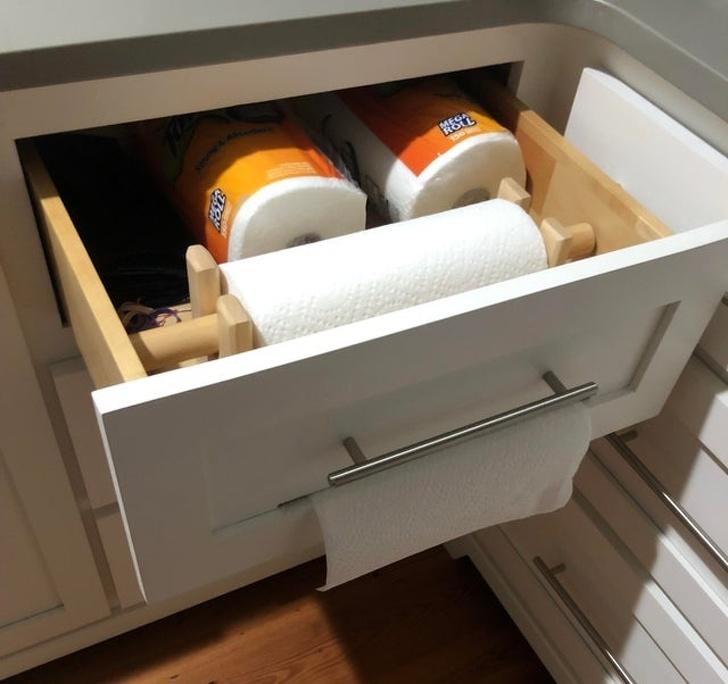 mẫu nhà bếp đẹp - ngăn kéo thông minh
