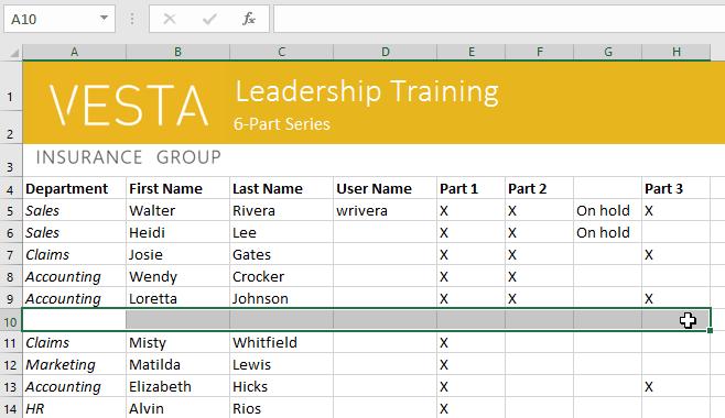 sử dụng ô (cell) trong Excel 2016 cách xóa ô