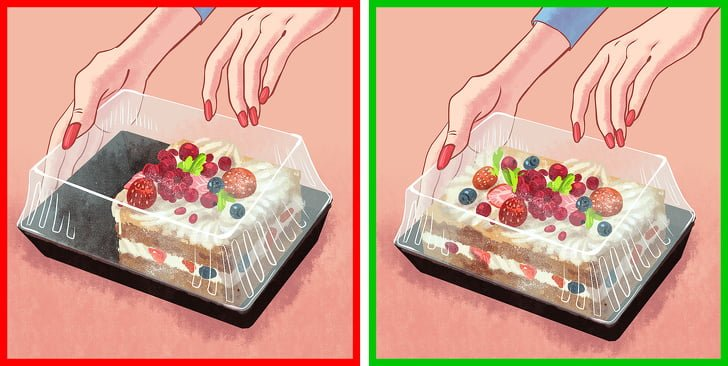 Sử dụng hộp để đựng thức ăn