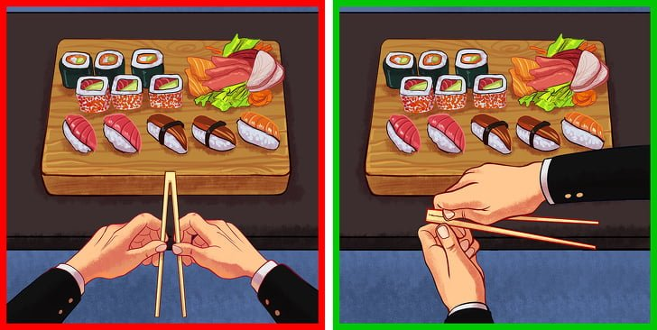 1 quy tắc sử dụng đũa riêng của người Nhật