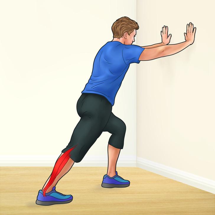 7 bài tập giúp tăng chiều cao và giảm đau chân - Tập luyện để căng bắp chân