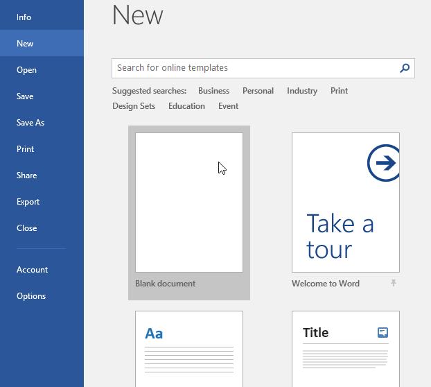 cửa sổ lựa chọn loại tài liệu