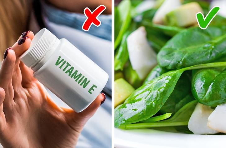 vitamin E ít tác dụng