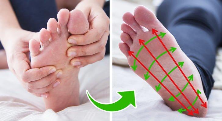 Mát-xa chân để thúc đẩy quá trình lưu thông máu