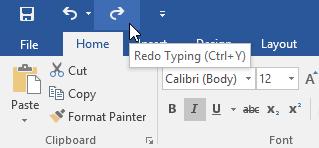 Các thao tác xử lý văn bản lệnh redo