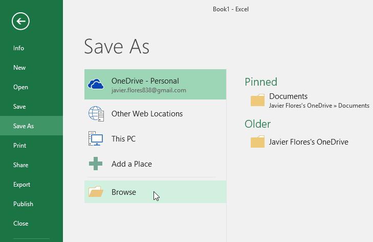 sao lưu và chia sẻ Workbooks trong Excel 2016