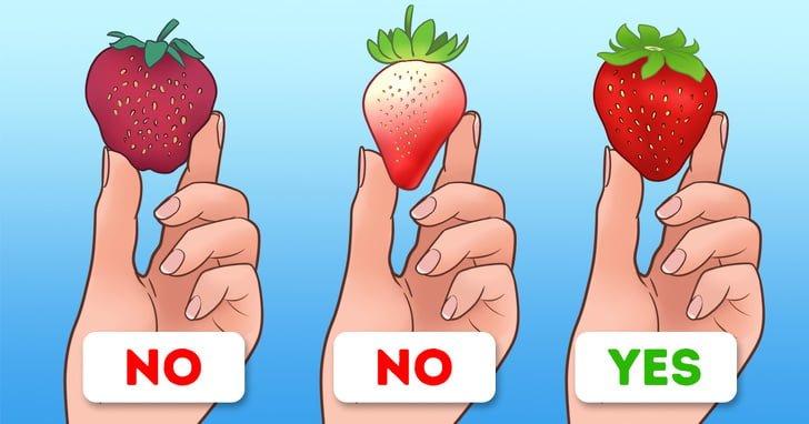 Lựa chọn dâu bằng ngón tay