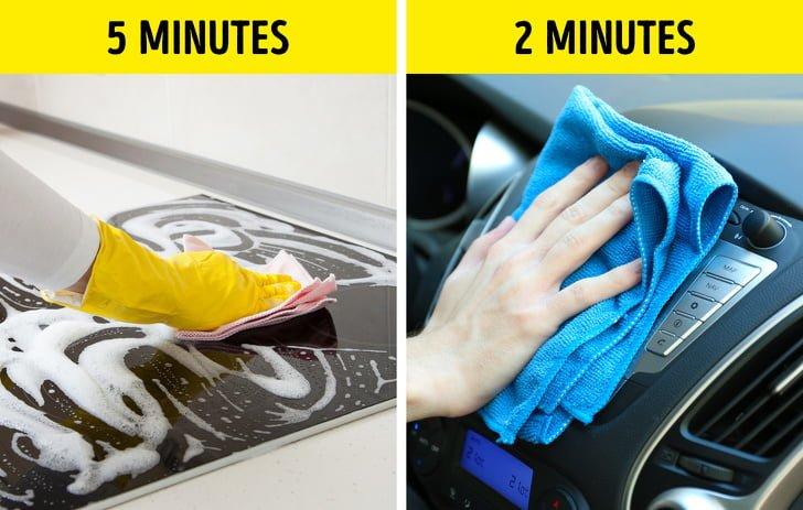 Tận dụng ít thời gian để lau chùi
