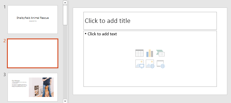 Khái niệm cơ bản về slide cho Powerpoint 2016 chèn slide