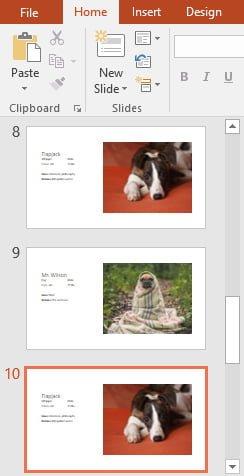 Khái niệm cơ bản về slide cho Powerpoint 2016 - chọn slide