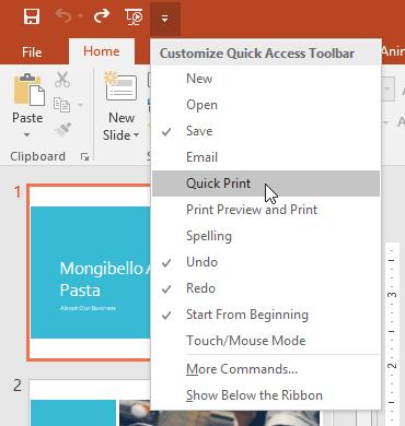 học tin học văn phòng online - thêm lệnh vào quick access toolbar