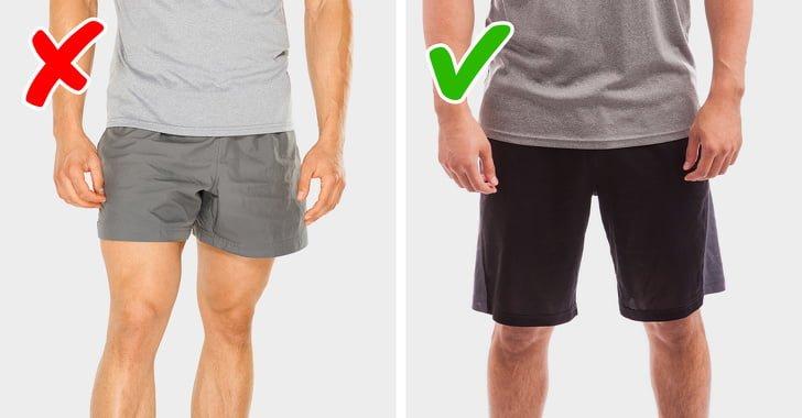 Mặc quần short phù hợp