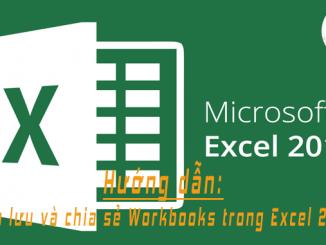 sao luu va chia se Workbooks trong Excel 2016