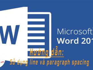 word 2016 huong dan su dung line va paragraph spacing