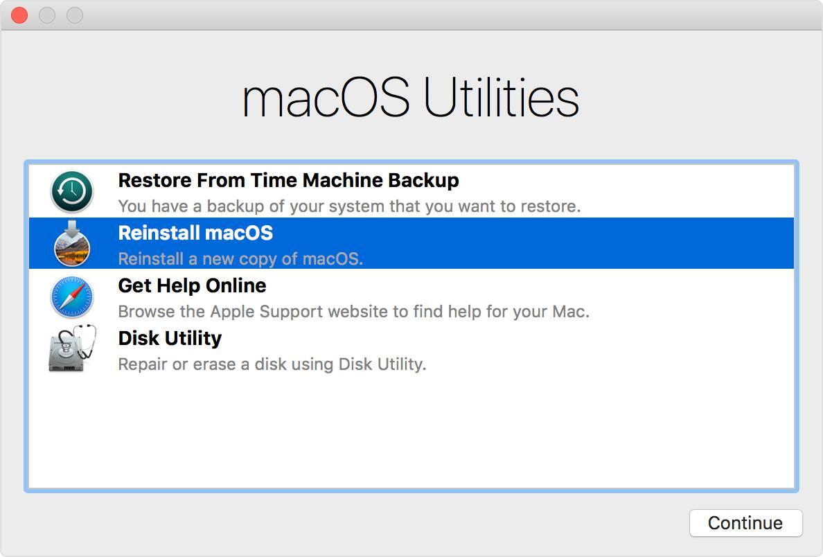 chế độ recovery của Mac OS