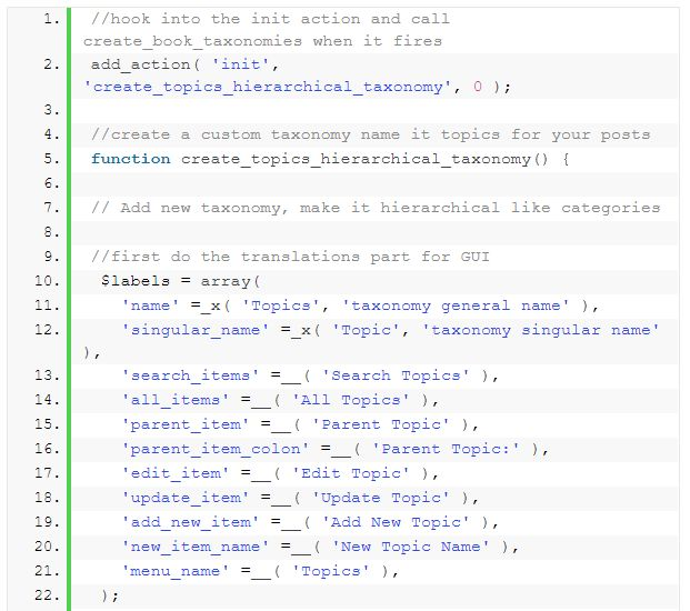 WordPress taxonomy 10