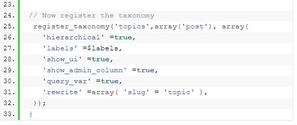 WordPress taxonomy 11