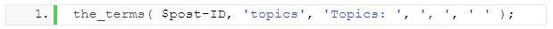 WordPress taxonomy 14