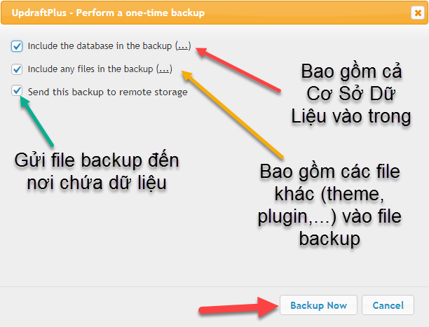 12 tuy chinh backup website