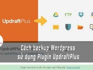 backup website su dung plugin updraftplus ft