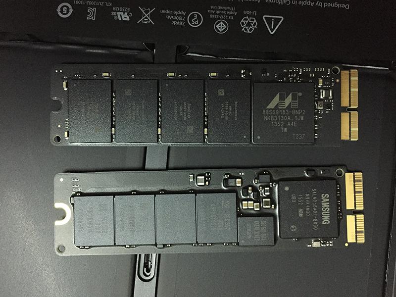 huong dan thay o cung SSD mac book 2015 14