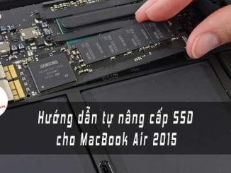 huong dan thay o cung SSD mac book 2015 ft